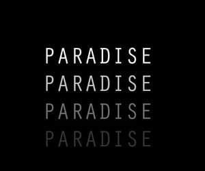black, paradise, and wallpaper image