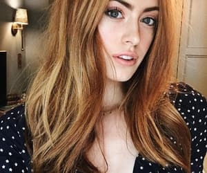 beautiful, ginger hair, and face goals image