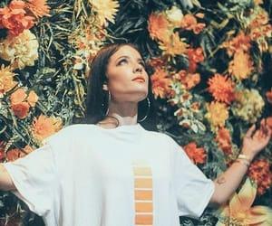 halsey, flowers, and orange image