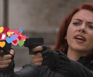 black widow, Marvel, and meme image