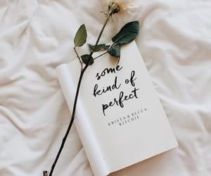 book, flowers, and quotes image