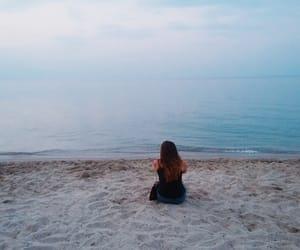 girl, Greece, and sea image
