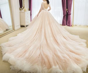 ball gown, beading, and wedding image