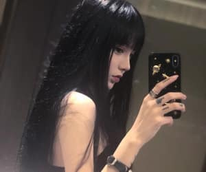 beautiful, girl, and mirror image