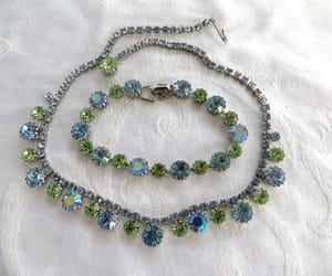 etsy, vintage necklace, and rhinestone necklace image