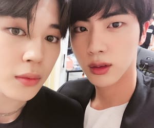 jin, twitter, and bts image