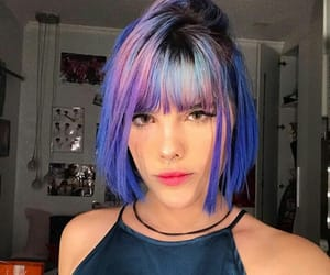 bangs, colors, and girls image