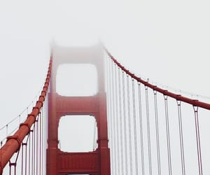 bridge, california, and fog image