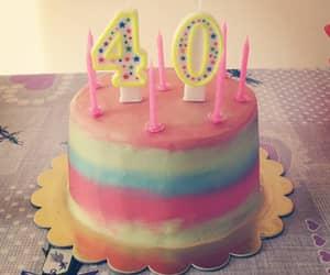 40, birthday cake, and bake image