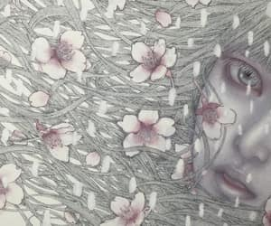 art, cherry blossom, and japanese image