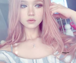 beautiful, blue eyes, and doll image