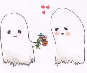 love, flowers, and ghost image