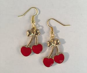 bling, jewelry, and cherries image