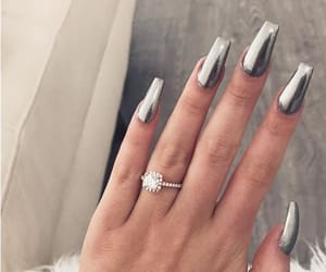metallic, engagement ring, and tumblr inspo image