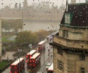 rain, rainy, and window image