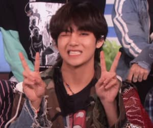 v, bts, and icon image
