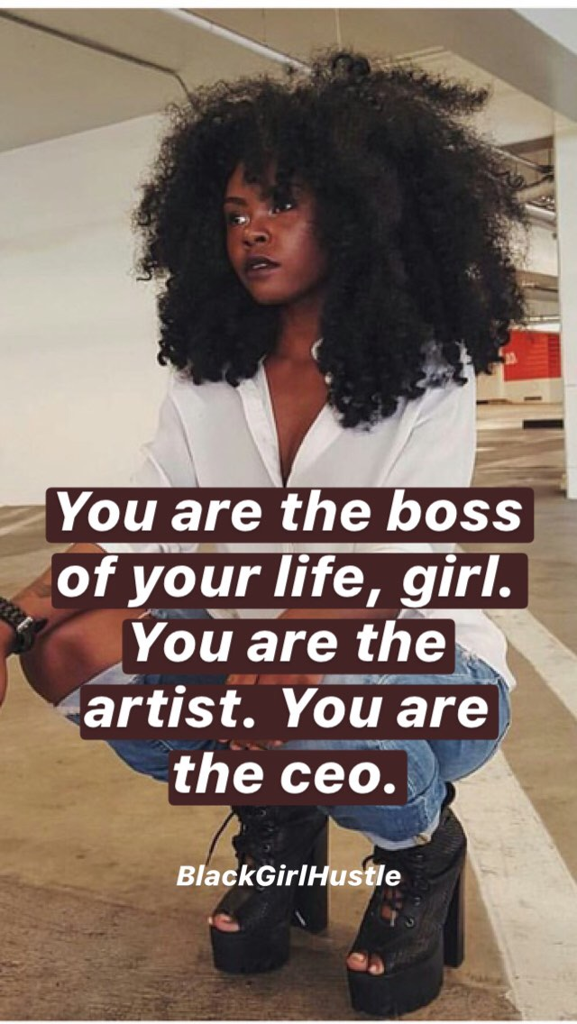 Afro, hustle, and inspiration image