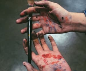 art, paint, and hands image