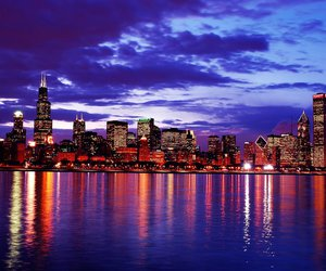 chicago, city, and light image