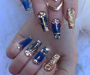nails and blue nails image