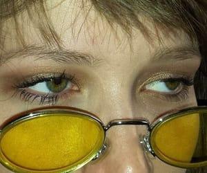 yellow, eyes, and aesthetic image