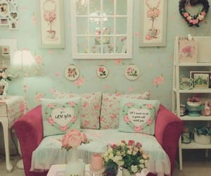 floral, home, and pastel image