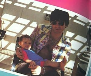 noel gallagher, cute af, and he is the baby here image