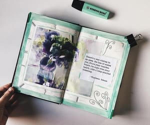 college, green, and journaling image