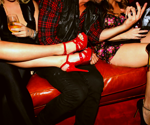 girls, heels, and party image