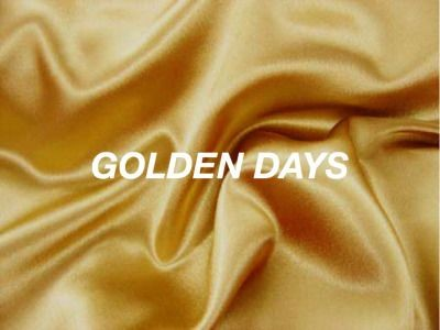 aesthetic, gold, and golden days image