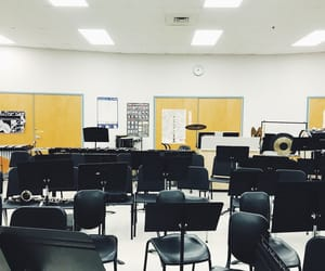 band, chairs, and clarinet image