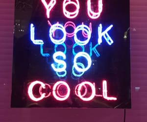 neon, blue, and cool image