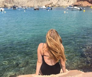 blonde, summer, and menorca image
