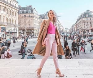 blonde, pink, and travel image