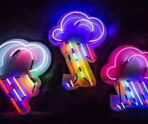 clouds, colors, and neon light image