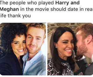 actors, smile, and meghan and harry image