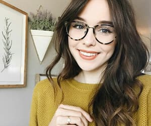 dimples, girl, and glasses image