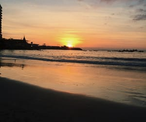 beach, place, and sunset image