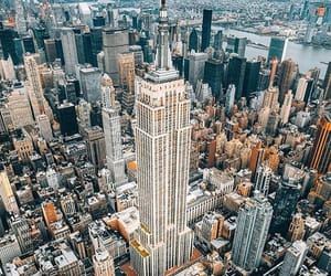 buildings, empire state building, and ny image