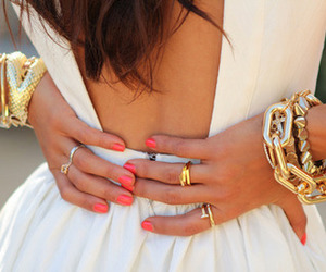 fashion, dress, and nails image