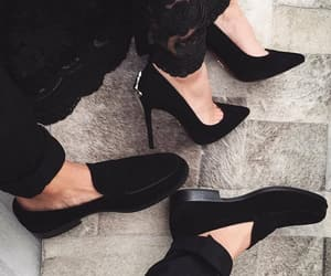 black, couple, and shoes image
