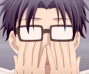 anime, blush, and funny image