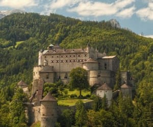 austria, castle, and forest image