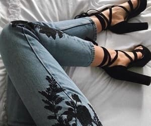 heels, jeans, and shoes image