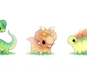 chibi, dinosaurs, and kawaii image