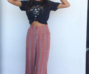 summer outfit, striped pants, and outfit inspiration image