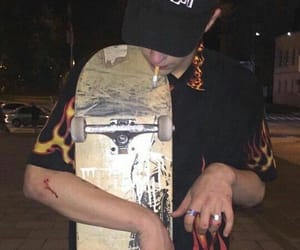 aesthetic, skateboard, and boy image
