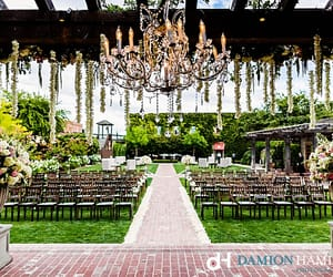 aisle, ceremony, and chandelier image