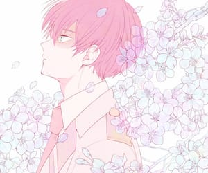 anime, flowers, and anime boy image
