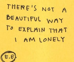 quotes, yellow, and lonely image